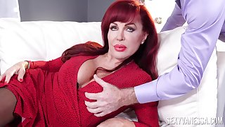 Rough action with a busty mature thirsty for cock in both holes