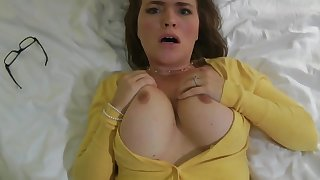 Girlfriend Cheating - busty brunette Krissy lynn in POV homemade hardcore