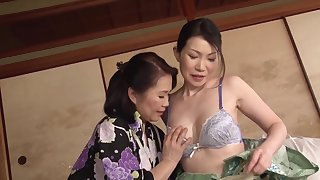Aroused Japanese matures are set to share lesbian moments on cam