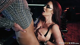 Busty increase e inflate stripper Emma Butt gets cum on her huge titties
