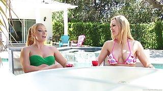 Gentle lesbian pussy eating between Lea Lexus and Sofie Carter