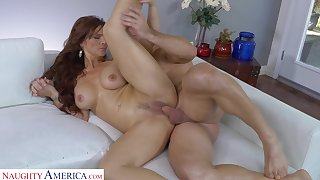 MILF Syren De Mer gets licked and fucked by her horny lover