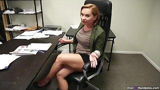 Horny Katja Kassin enjoys playing with her coworker's joystick