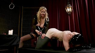 Mature female in inexact porn with enslaved defy