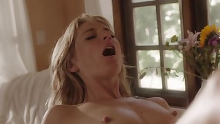 Mona Wales has sex with Marcus London who covers pussy with sperm