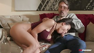 Cuban spoil Luna Star gets acquainted around hard dick of old neighbor