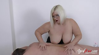 Hardcore mature lady Lacey Starr and horny soldier panhandler sexual sex