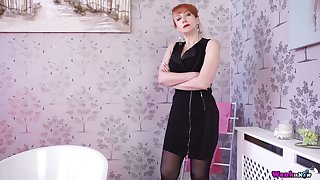 Horny In flames is ready to expose and to work with her awesome big boobies