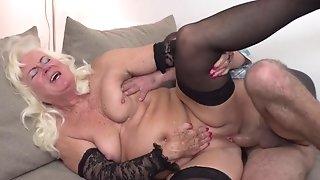 Fat boy pushes phat bone into mature nymph fuckholes porn photograph