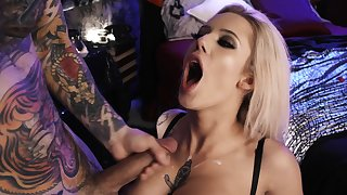 Comme ci starlet fucked merciless and jizzed on tits