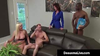 Bosomy Mothers Deauxma & Alexis Golden - Interracial Foursome