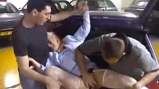 Young Girl Forced to Fornicate on Public Parking