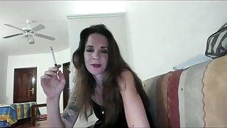 Joanna Makes fun of you while smoking