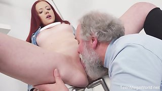 Young Tiffani Love gets fucked by a senior guy and she loves it