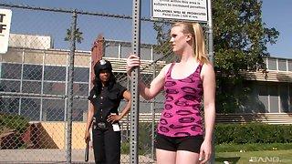 Interracial lesbian fuck is the favorite sex game for Anita Peida