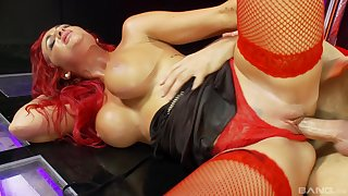 Hardcore delight for the fine redhead in love with the dick