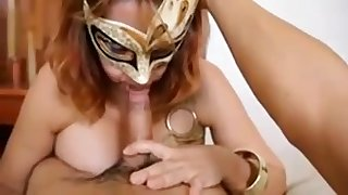 I want you to see my wife in mask sucking my penis