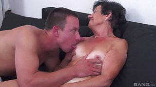 Mature amateur adores hard sex with her young lover in many poses