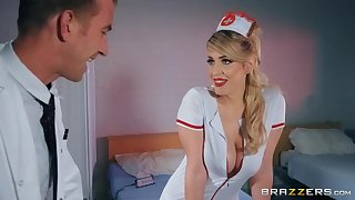 Lucky doctor Danny D fucked fair-haired nurse Marica Chanelle