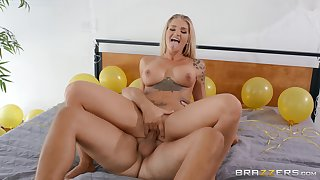 Busty milf tries cock in hardcore and she loves it