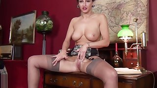 Scottish Babe Cassie Clarke in stockings