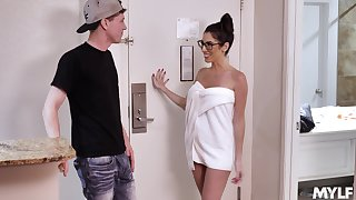 Dava Foxx in nerdy glasses while getting the good dick she needed