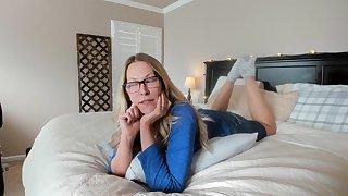 slutty blonde milf on webcam solo