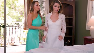 Hot women are having one last oral before the wedding