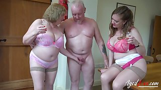 Hardcore mature action with more people involved in group sex video